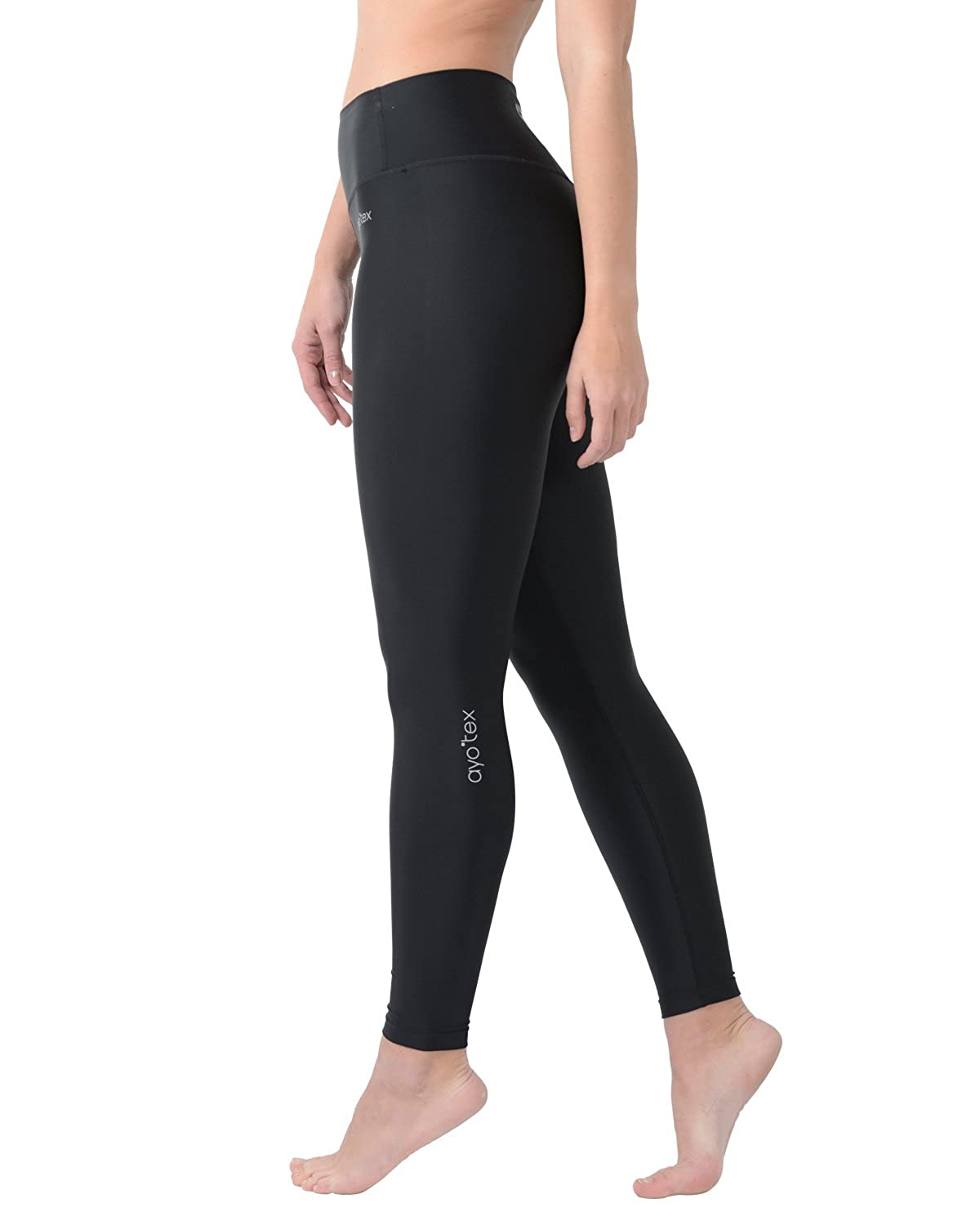 400fd1153dbfd Non see through, High elastic material-- These classic black workout  leggings made by 85%nylon,15%spandex. Non see-through and moisture-wicking.