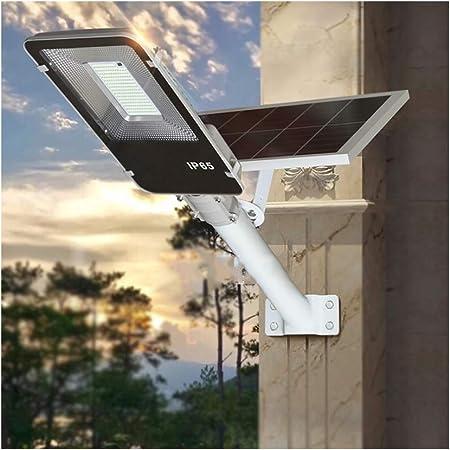 Rmckj-M Luz Solar Exterior Impermeable IP65 LED Farola Solar 50W-400W con Soporte Ajustable Y Control Remoto/Sensor Crepuscular Luces De Jardín para Calle Patio Jardín,400W: Amazon.es: Hogar