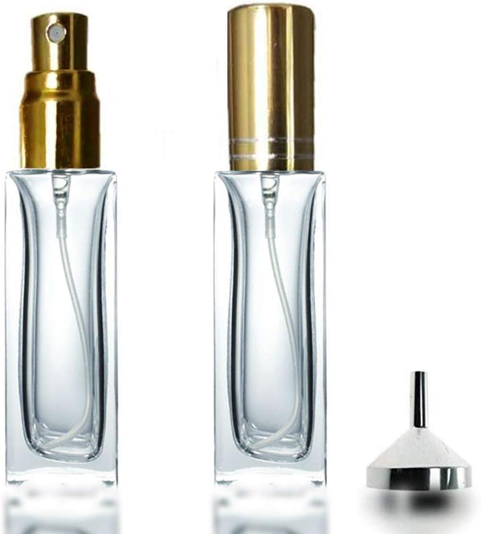 Glass Perfume Atomiser 2 x 20ml Square