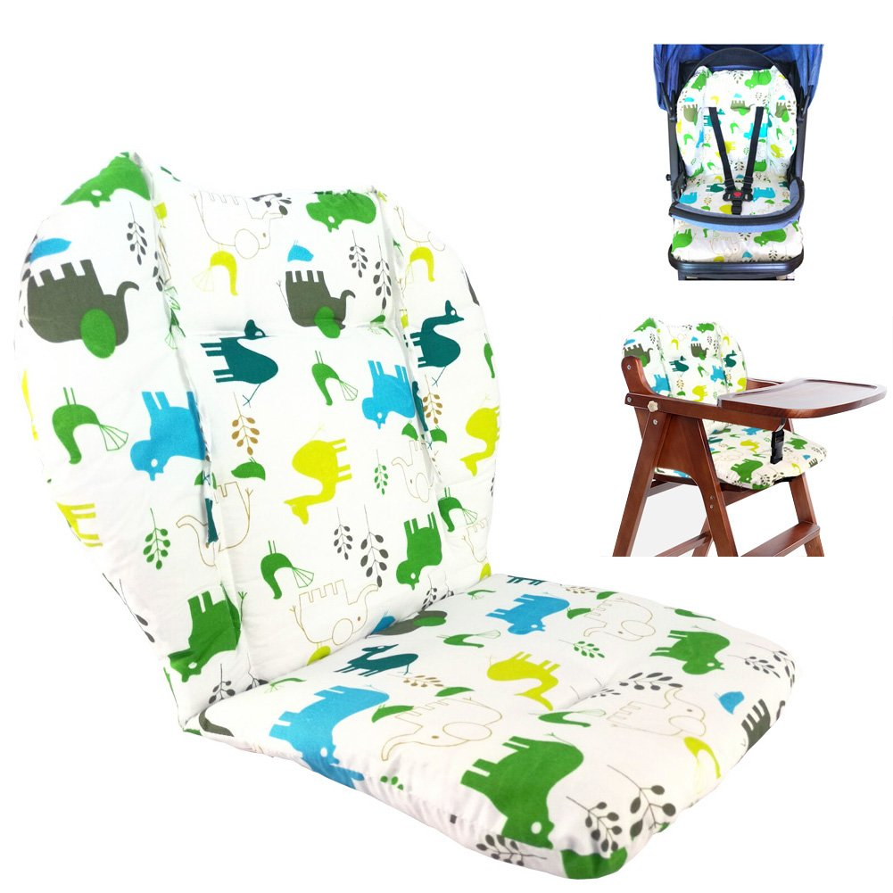 High Chair Pad, Amcho Baby Stroller/Highchair / Car Seat Cushion Protective Film Breathable high Chair pad(Elephant)