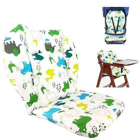 Cojín de la silla alta, Amcho Cochecito de bebé / Trona / Cojín del asiento de coche Película protectora Respirable Cojín de la silla alta (Elefante ...