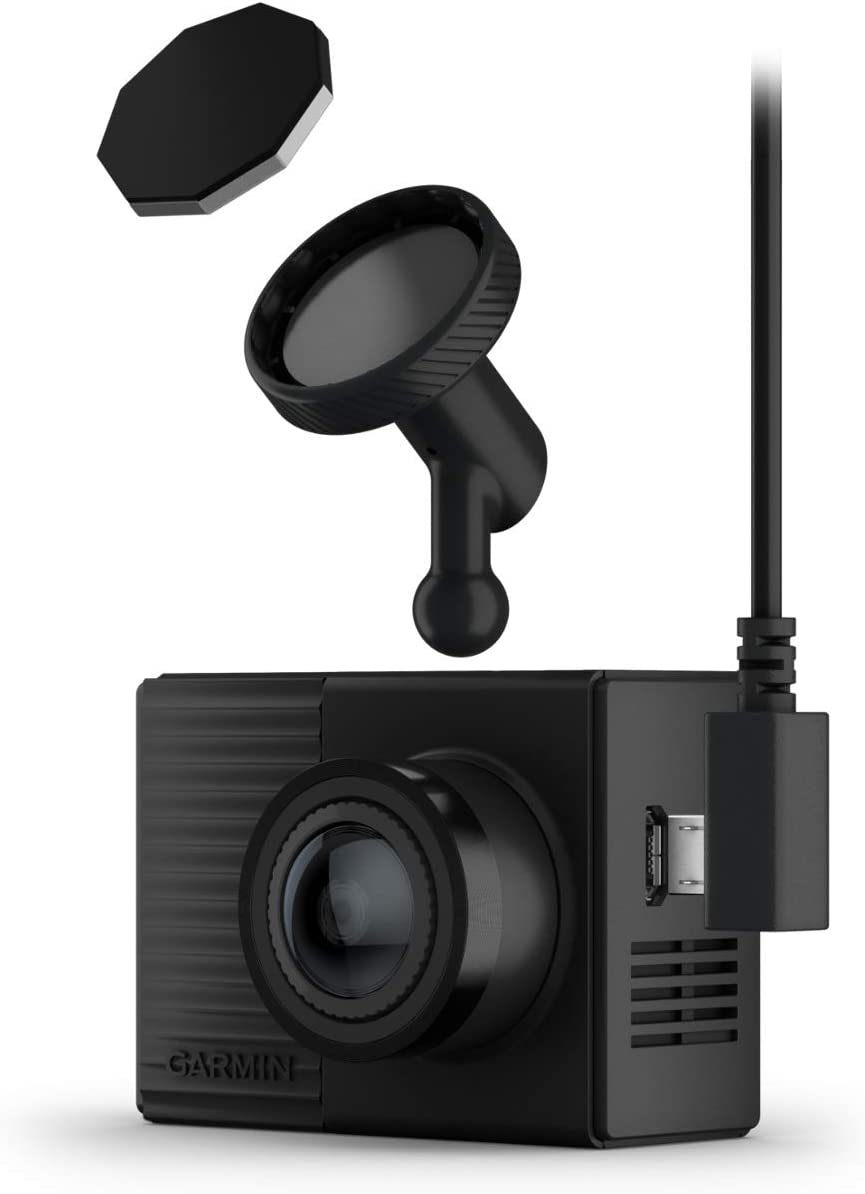 Garmin Dash Cam Tandem With Two 180 Lenses For All Round Shots Front Lens With 1440p Ultra Compact Auto Accident Detection Night Vision With 720p Gps Wifi Memory Card Voice Control Navigation