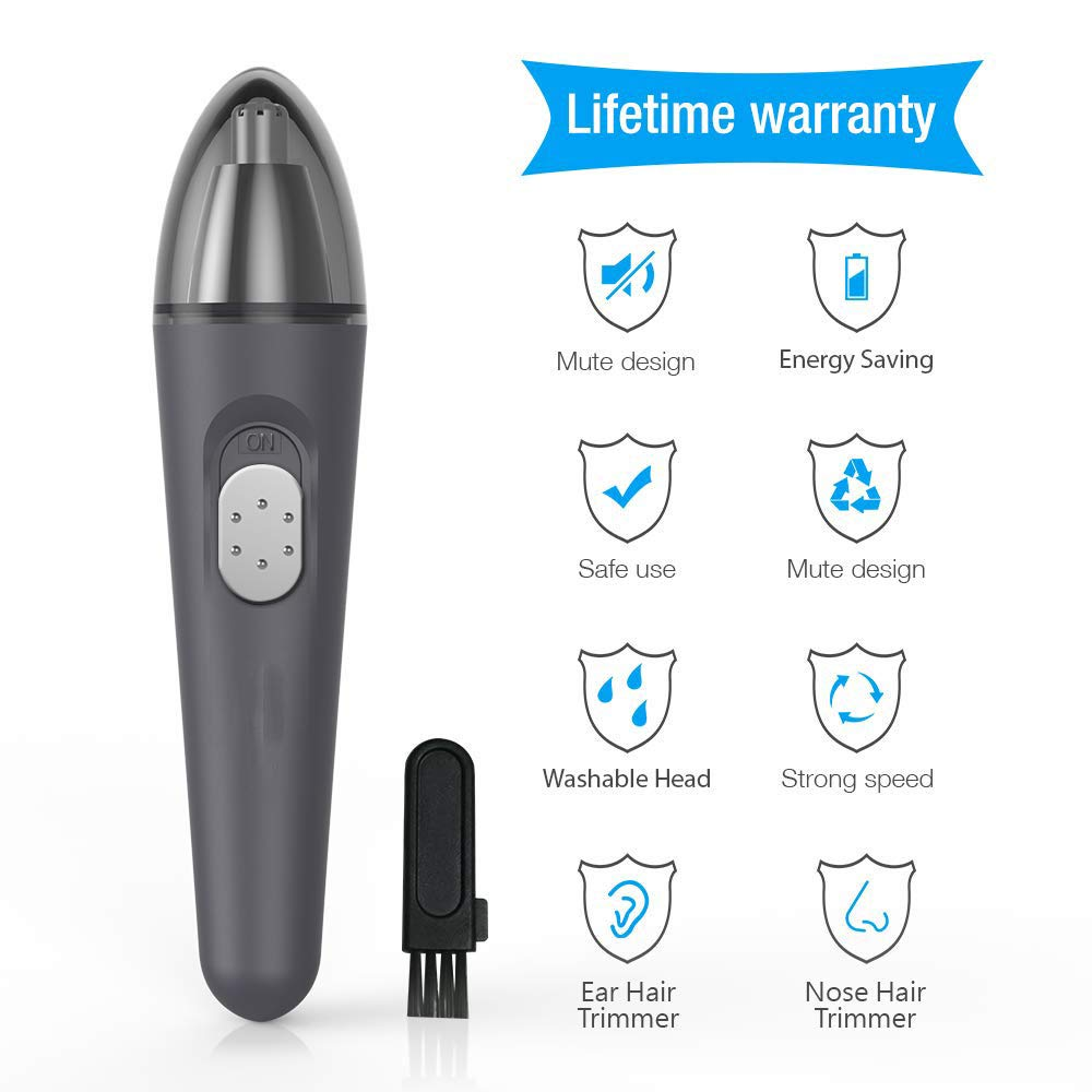 Flepow Mens Nose Hair Trimmer Best Rated, Amagarm Groomate Nose Hair Trimmer Manual, Nose Hair Trimmer For Men Women Rechargeable, Nose-Hair Trimmer Scissors Waterproof Stainless Steel by BETTER ANGEL XING