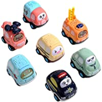7PCS Toddler Infant Early Learning Car Educational Toys Boys And Girls Toys Inertial Friction Power Push-pull Baby Toy…