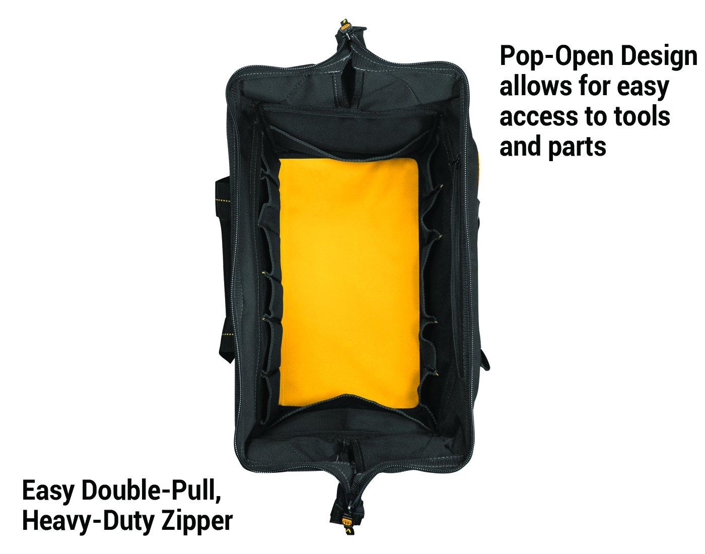 DEWALT DG5553 40 Pocket 18 Inch Pro Contractor's Closed Top Tool Bag by DEWALT (Image #1)
