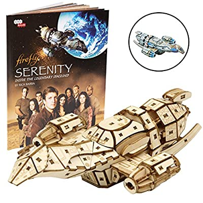 IncrediBuilds Firefly Serenity Book and 3D Wood Model Figure Kit - Build, Paint and Collect Your Own Wooden Toy Model - Great for Kids and Adults,12+ - 6.5