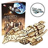 Firefly Serenity Book and 3D Wood Model Kit - Build, Paint and Collect Your Own Wooden Model - Great For Kids and Adults,12+ - 6.5'' x 4.25''