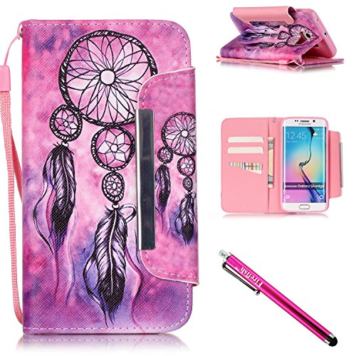 galaxy-s6-edge-case-firefish-kickstand-pu-leather-flip-purse-case-slim-bumper-cover-with-lanyard-mag