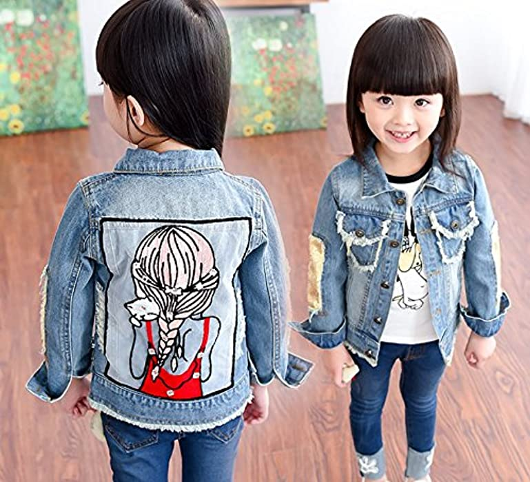 Amazon Com Jinting Children Girls Casual Jackets Denim Kids Tops