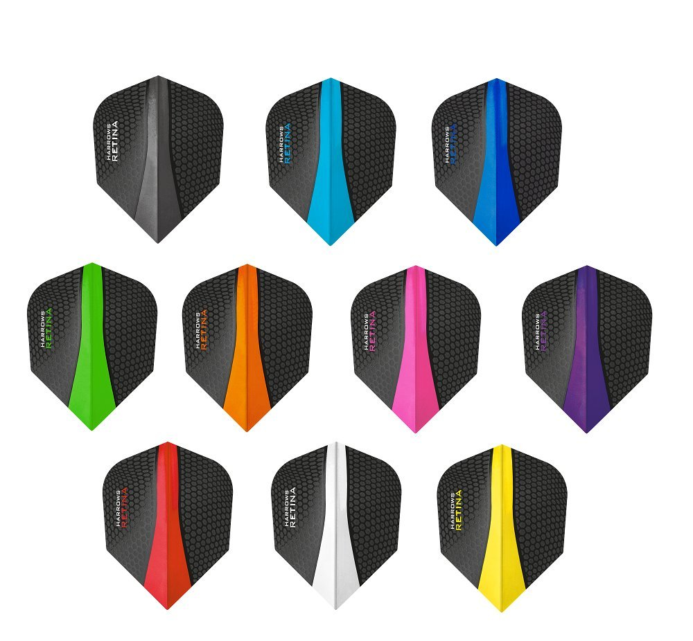 10 x Sets Harrows Retina Mixed Colour Dart Flights Standard PerfectDarts