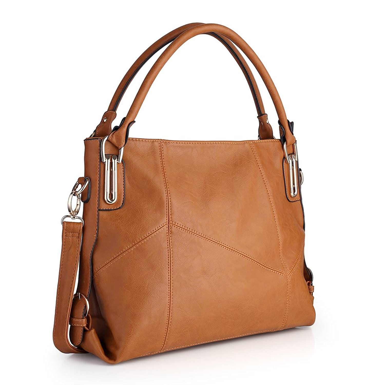 Women Handbags,Women Bag, Large Shoulder bag Zipper Pocket KINGH Tote Bags PU Leather 009