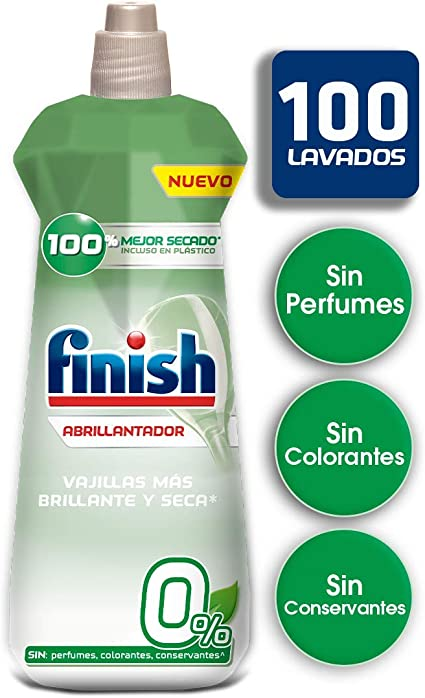 Finish 0% Abrillantador para lavavajillas - formato 400 ml - 100 ...
