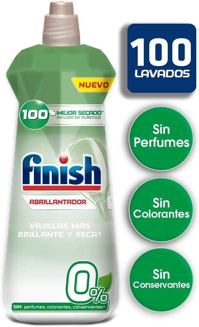Finish 0% Abrillantador para lavavajillas - formato 400 ml - 100 ...
