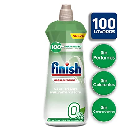 Finish 0% Abrillantador para Lavavajillas - 400 ml: Amazon ...