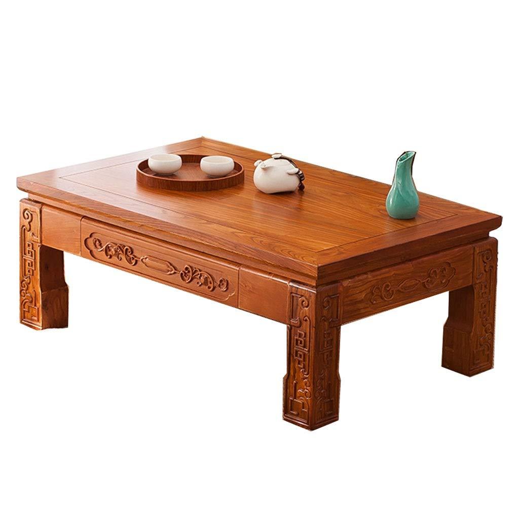 Color : A, Size : 50x40x30cm Tavoli Tavolino in Legno Massello Basso Giapponese con Cassetti Tavolino da Salotto for Laptop Lavoro