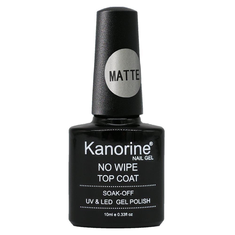 Kanorine Matte Top Coat UV LED Soak Off Gel Nail Polish Lacquer Manicure Nail Sarlon Art (Matte Top Coat) 90181219203301