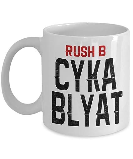 amazon com cyka blyat mug funny coffee mug russian language mug
