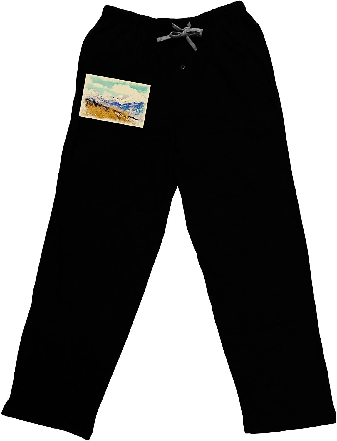 TooLoud Pikes Peak Watercolor Adult Lounge Pants
