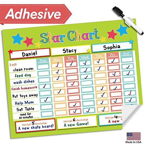 Leaves Teaching Chart - Dry Erase Reward Chore Chart - 16