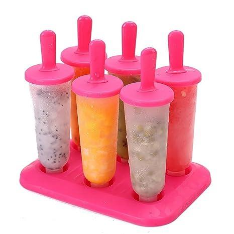 Mystery&Melody Mini molde de helado Molde de barra de silicona Set Moldes de polo de hielo