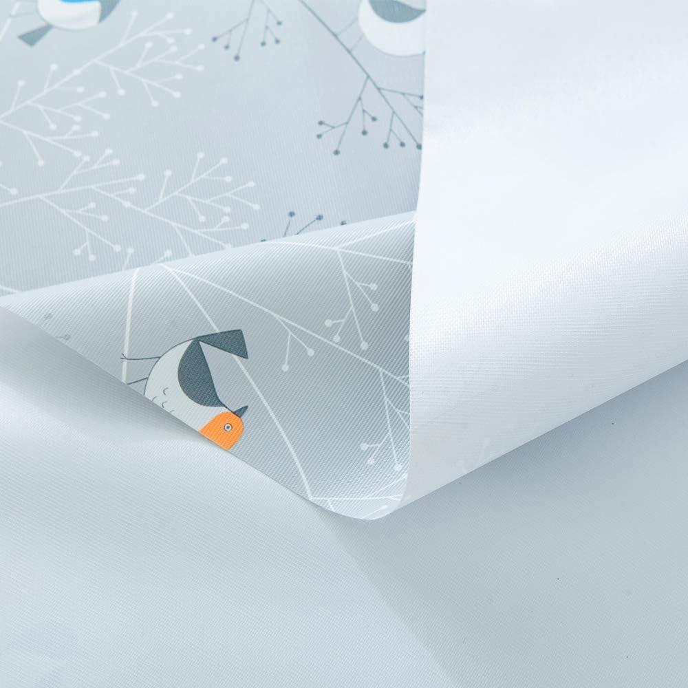 Plenmor Resistente a Las Manchas y al Moho 137x137 cm Resistente al Agua Birds a Prueba de Aceite Mantel de Vinilo Resistente para Mesa Rectangular de PVC