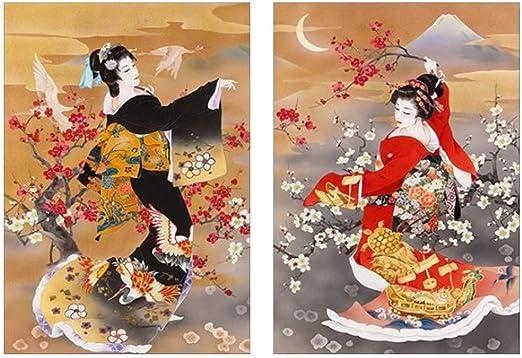 Impresión en Lienzo Pintura de Pared 2 piezas Chica disfraz ...