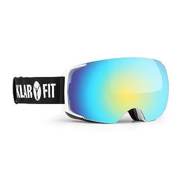 Klarfit Snow View 2 Gafas de esquí y Snowboard REVO (protección contra Rayos UV,
