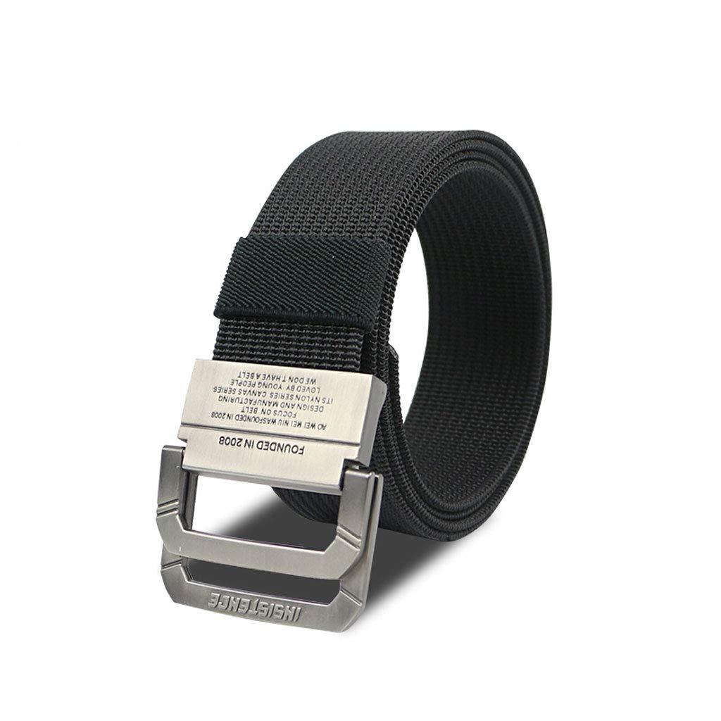 JU FU Lona Cinturón táctico Pantalón de Entrenamiento de Nylon para Exteriores Fans del ejército Hombres y Mujeres Estudiantes Cinturones de Hombre 4 Colores Opcionales 125 × 3.8 cm (Color : A)