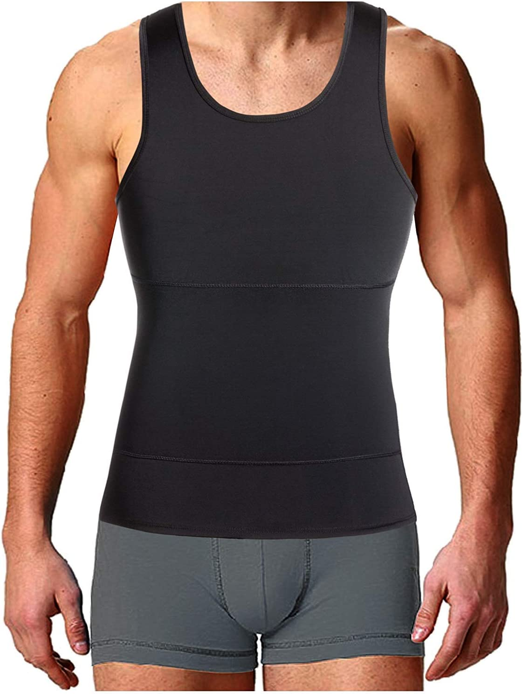 Bingrong Faja Reductora para Hombre Chaleco Adelgazante para Hombre Camiseta elástica para Abdomen Ropa Interior Reductora