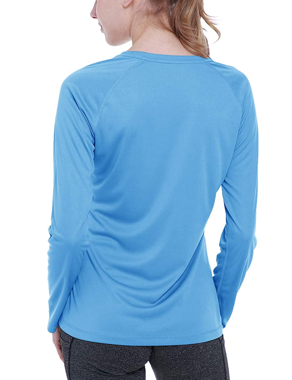 ChinFun Womens UPF 50 UV Sun Protection T-Shirt Long Sleeve Outdoor Running Performance Athletic Workout Top Tee