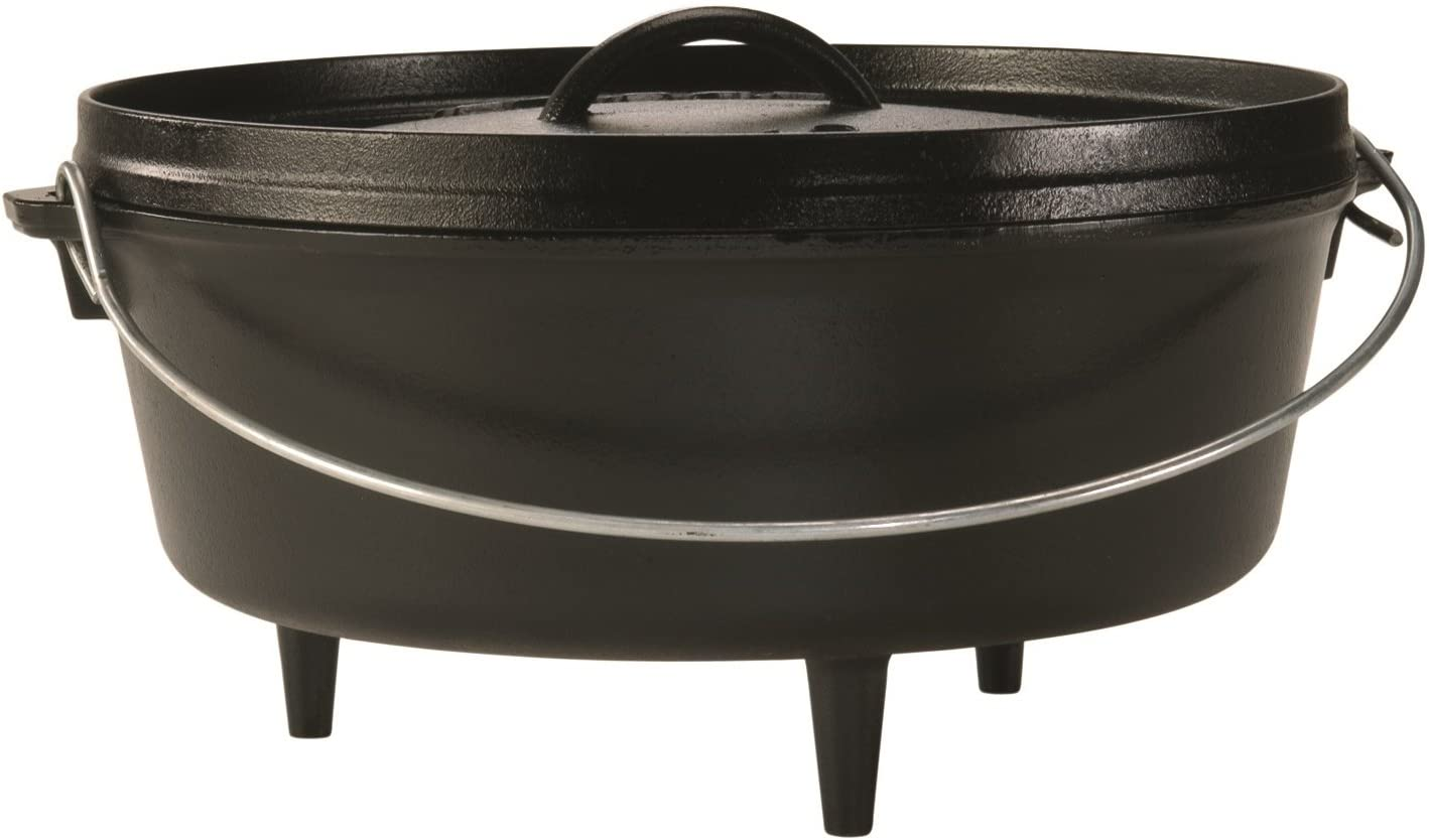 Lodge Cast Iron Camp Dutch Oven, 6-Quart