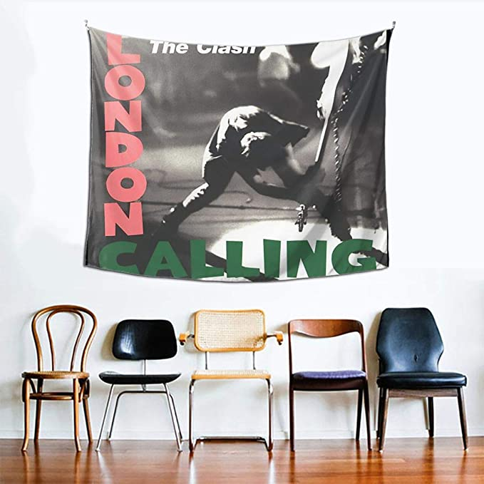 Amazon Com Zhaoyaqin1 The Clash London Calling Tapestry 60 X 51 Inch Wall Blanket Tapestry Indoor Tapestries Home Kitchen
