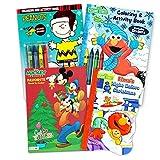 Sesame Street Christmas Coloring Book Super Set