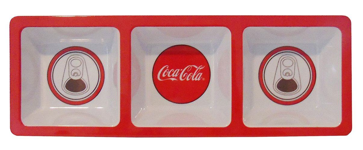 Red Disc Melamine Coca-Cola Divided Snack Tray Marketing Research