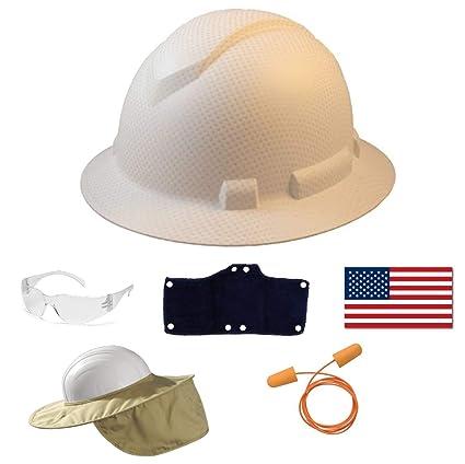 42b4b02bf Pyramex Safety Full Brim Hard Hat Adjustable Ratchet 4 Pt Suspension ...
