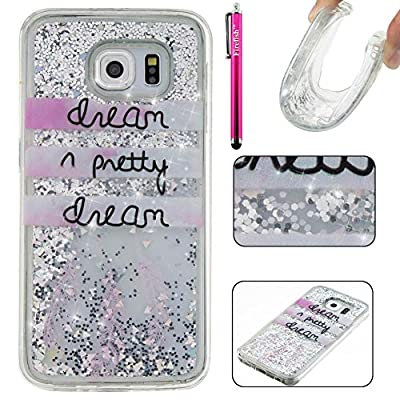 Galaxy S6 Case, Firefish [Slim Fit] Creative Moving Quicksand Anti-Slip [Shock Absorption] Soft TPU Gel Silicone Protective Cover for Girls Children Fits for Samsung Galaxy S6 by Firefish