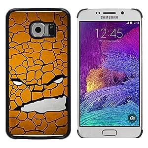 iKiki Tech / Estuche rígido - Texture Face - Samsung Galaxy S6 EDGE SM-G925