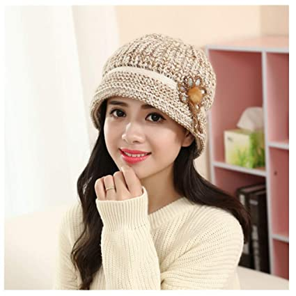 f048f1176d8f1 Image Unavailable. Image not available for. Color  Midress Winter Warm  Floral Cap Knitted Hat Beret