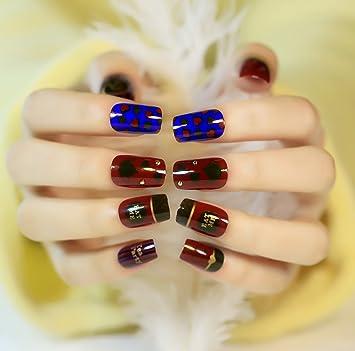 jovono elegante falsas uñas consejos francés uñas postizas para las mujeres y las niñas (rojo