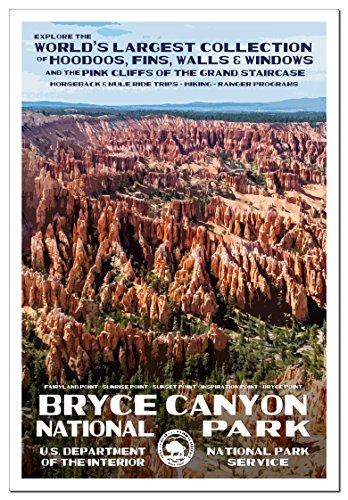 Bryce Canyon National Park Poster - Original Artwork by Rob Decker - Wpa Style