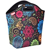 insulated lunch bags for women - yookee home Large Neoprene Lunch Tote, 14