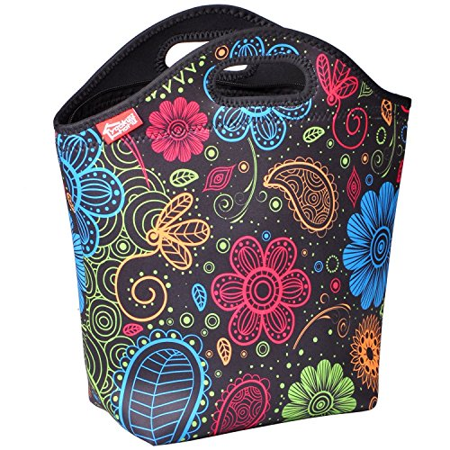 yookee home Large Neoprene Lunch Tote, 14