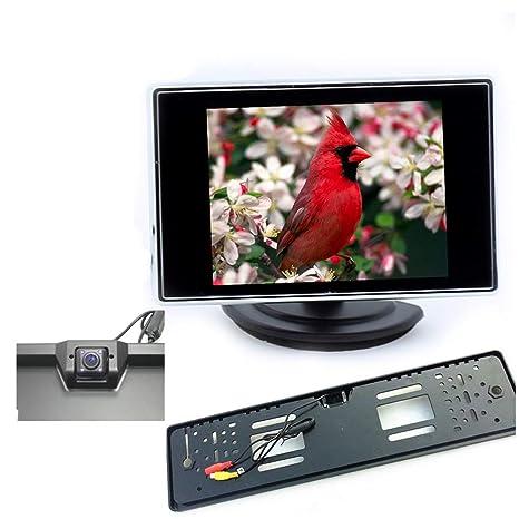 WEPECULIOR Kit de cámara y Monitor de Marcha atrás, Monitor ...