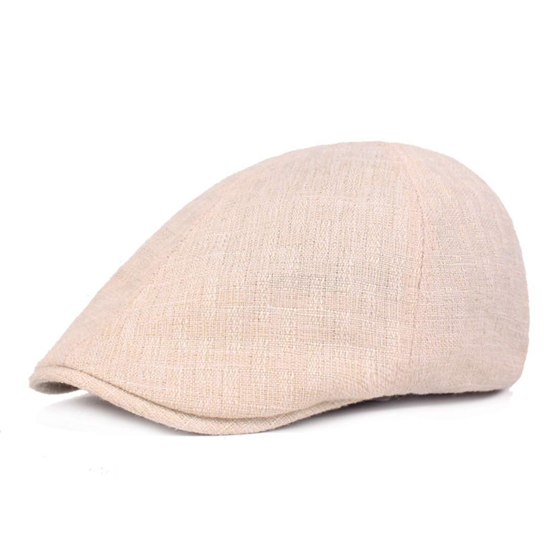 Charmylo Herren Baskenm/ütze Maler Baumwolle und Leinen Schirmm/ütze Reine Farbe Achteckige Kappe Schl/ägerm/ütze Newsboy Hat Flatcap