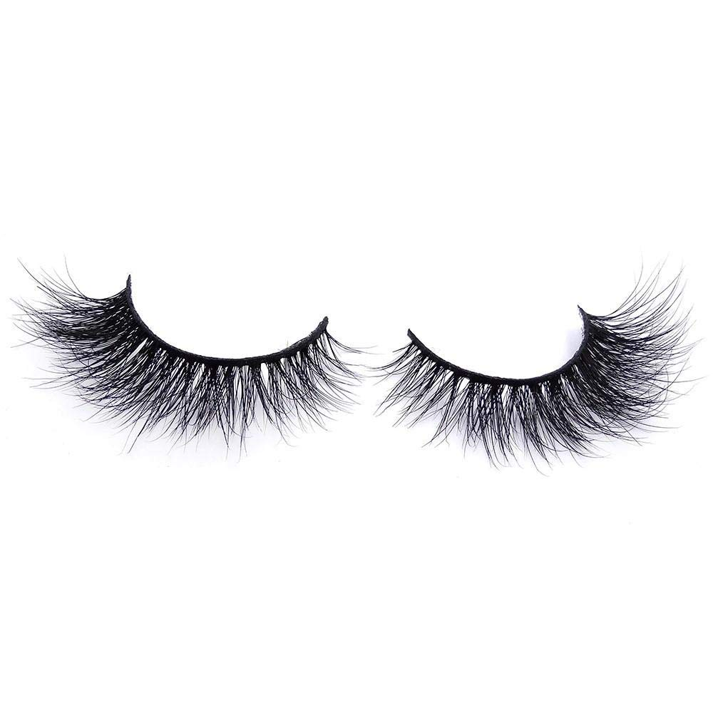 Miss Fabulashes Bish Please   3D Mink  False Eyelashes   Luxury Eyelashes  Natural & Glamorous Look and Soft Feel   Mink   Reusable Non-Magnetic 100% Handmade and Cruelty-Free
