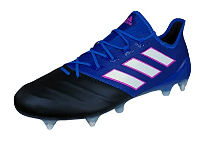 b6409d50f adidas Ace 17.1 Leather SG Mens Soft Ground Soccer Boots Cleats-Blue-6.5