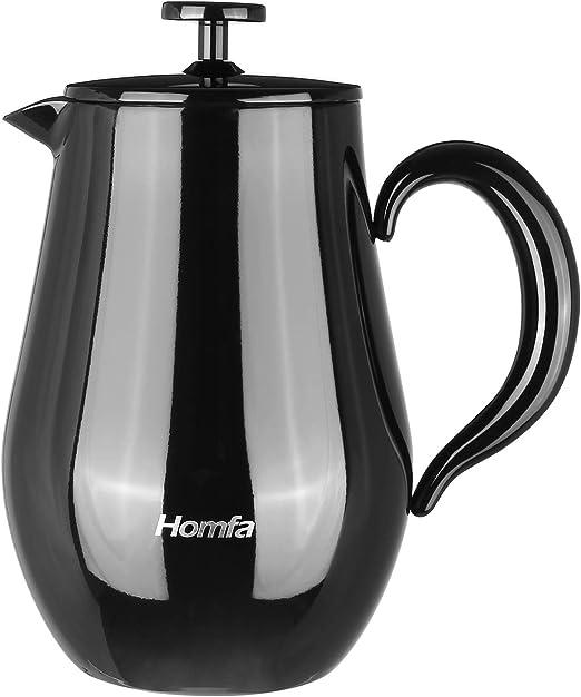 HOMFA Cafetera de Émbolo Filtra Bien Conserva el Calor y Frío para ...