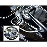 1pcs 29mm 3D car Multimedia Control Decal Interior Sticker Badge Affalterbach Tree Decoration Emblem Fit Benz AMG…