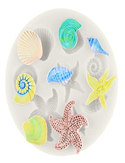 Amazon Com Barlingrock 1pc Diy Sea Creatures Conch Shell Fondant