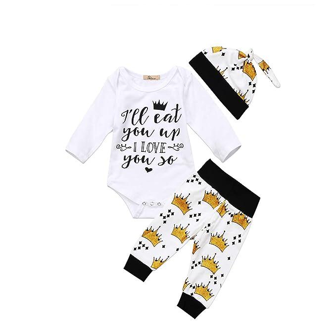 db6c2629d1d Amazon.com: Fashion New Newborn Kids Baby Boys Girls Letter Long ...